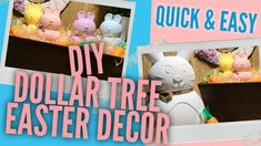 Easy How To Tutorial - In this video I will show you how to make these Bunny Rabbits Great for your Easter or Spring decor also would look cute for your farm. Video Tutorials, Diy Videos, Diy Easter Decorations, Egg Shape, Bunny Rabbit, Dollar Tree, Wall Signs, Craft Supplies, Easy Diy