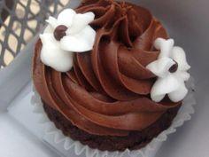 Gluten free chocolate vegan cupcake from Coquette's Bistro and Bakery in Colorado Springs! #cupcake #vegan #dessert #coloradosprings #yum