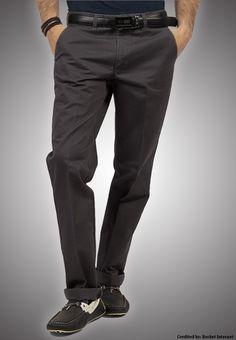 """Bien Habille IRONEEZEE Ebony """"Comfort Fit"""" Wrinkle Free 100% Cotton Trouser Permanent Crease #men #style #fashion #menswear #Pants #Jeans #trousers #onlinemela www.onlinemela.pk Order Now: +92-334-333-6352"""