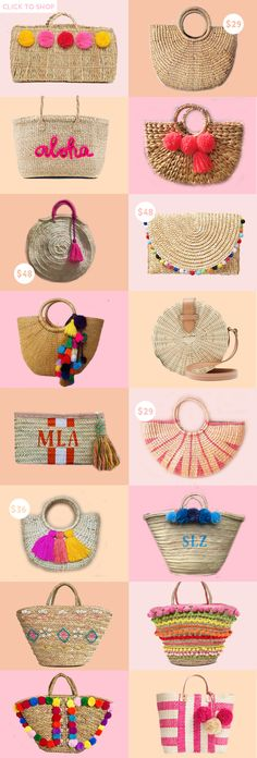 Best Straw Bags of the Summer | summer handbags | straw handbags and totes | fashionable summer straw bags | summer accessories || a lonestar state of southern