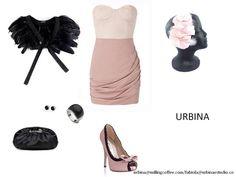 Diadema URBINA rosa y negro eterna combinación de éxito.