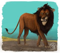 My concept for Scar from the lion king as a CGI character/ the upcoming live action adaptation.  Unpolished Sketch.