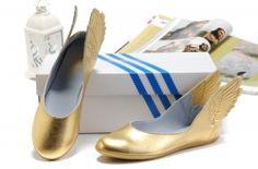 on sale 23583 f377a Jeremy Scott JS Wings Ballerina Shoes Gold Ballerina Gold, Ballerina Shoes, Jeremy  Scott Wings