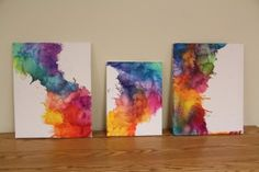 Do It Yourself Melted Crayons for cool room decor