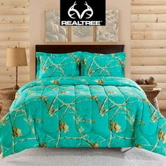 Realtree AP ™ Teal is a NEW Color in the Realtree AP Camo collection! Realtree Camo Comforter 3-pc Set. #Realtreecamo. Never seen this color camo wouldn't ever use it but love the color