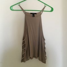 Biege Cut Out Sides Halter Top New without tags! Forever 21 Tops