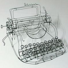 Martin Senn- wire drawing/ scuplture