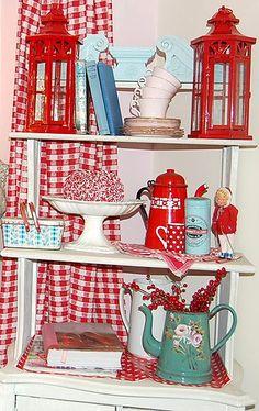 christmas shelves by HAPPY LOVES ROSIE, via Flickr