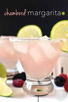 raspberry liqueur, lime and silver tequila - Chambord Margarita is a classic, fresh margarita with a fruity yet not too sweet twist! Party Drinks, Cocktail Drinks, Fun Drinks, Cocktail Recipes, Beverages, Margarita Cocktail, Italian Margarita, Cocktail Appetizer, Cocktail Ideas