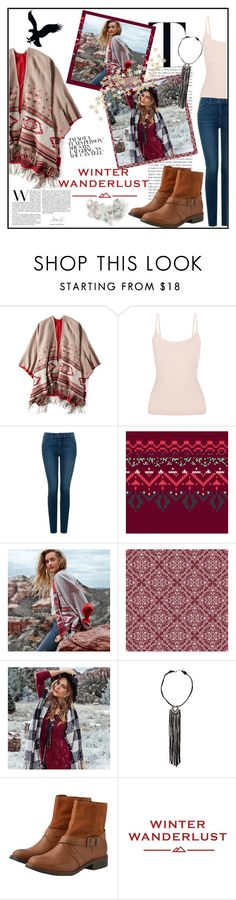 """""""Winter Wanderlust"""" by natsucool ❤ liked on Polyvore featuring American Eagle Outfitters, Yummie by Heather Thomson, NYDJ and aeostyle"""