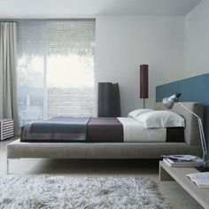 Charles LC180 211x236cm bed by B&B Italia for 180x200cm mattress - Antonio Citterio - Beds - Bedroom - Furniture