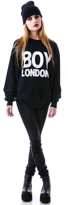 All Black Swaggy Dopeness. Boy London Sweatshirt | Dolls Kill. For my ghetto goth days.