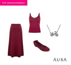 Os looks monocromáticos são uma grande tendência e vamos combinar, são hiper práticos e elegantes, né? (Código do #Colar: 5625) #AuraPrata