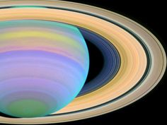 Saturn in ultraviolet (Hubble Space Telescope 2003). #astronomy #planet
