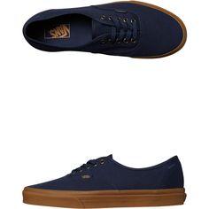 Vans Authentic Gum Shoe Blue ($76) ❤ liked on Polyvore featuring men's fashion, men's shoes, men's sneakers, blue, footwear, men, sneakers, mens navy blue sneakers, mens canvas sneakers and mens sneakers