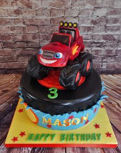 Blaze Monster Truck cake, all edible