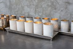 WILDER CANDLEHOLDERS IN WHITE OR BRONZE