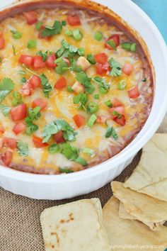 Black Bean Dip. A yummy and easy dip that is actually healthy!