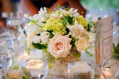 Garden Rose and Orchid Centerpiece