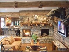 Rustic Fireplaces | Classical Rustic Interior Design Collection Artistic Rustic Fireplace ...