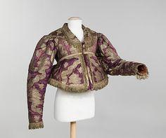 Jacket 1840–80, Russian silk, metal, cotton