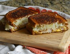 Leftover Thanksgiving Grilled Cheese.