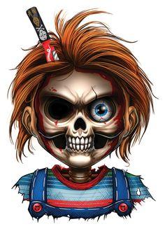 Tattoos Discover Rest in Pieces Temporary Tattoo Set Horror Cartoon, Dope Cartoon Art, Cartoon Kunst, Horror Icons, Horror Movie Characters, Graffiti Characters, Creepy Horror, Creepy Art, Scary Tattoos