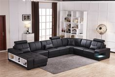 online shopping for My Aashis Luxury Sectional Sofa Design U Shape 7 Seater Lounge Couch Corner Sofa from top store. See new offer for My Aashis Luxury Sectional Sofa Design U Shape 7 Seater Lounge Couch Corner Sofa U Shaped Sectional Sofa, U Shaped Sofa, Leather Sectional Sofas, Modern Sectional, White Sectional, Sectional Furniture, Corner Sectional, Modern Sofa, Lounge Design