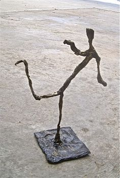 Swiss artist Alberto Giacometti (1901-1966) and we recently had some work from the Guggenheim collection visit our tiny town, including this work by Giacometti ('City Square', bronze, 1948). When I began talking to my grade 4 students about this artist a few of them recognised his 'Walking Man' sculpture from the Guinness Book of World Records. This sculpture recently became the highest selling sculpture of all time, which made the kids even more interested to learn about the artist.