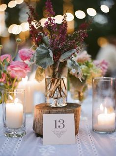 Flowers and table numbers