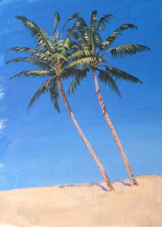 Learn how to paint a palm tree in #acrylics with Jon Cox as part of our #landscapes academy. Now available on ArtTutor.
