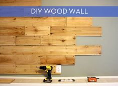 How-to: Rustic Wood Wall