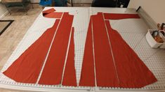 Ottoman Turkish garb in process- anteri period cut layout photo tutorial