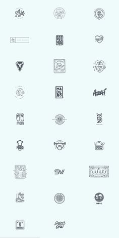 A huge collection of logos by Art Director and Graphic Designer Oscar Bastidas. His work includes diverse styles made of custom typefaces, complex graphics or simple lines.