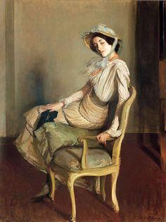 Portrait of Desirée Manfred (The Summer Girl), Blanche, Jacques-Emile