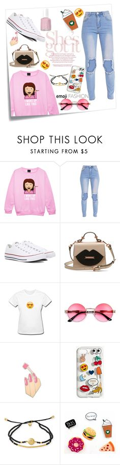"""""""She's Got It"""" by forever-makayla on Polyvore featuring Post-It, Converse, PINTRILL, Madewell, Tai and Essie"""
