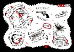 The Blankok Brothers flash tattoo by Sylvester Boom