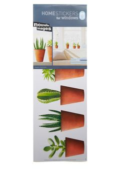 For those who want plants without the hassle: faux-liage window decals!