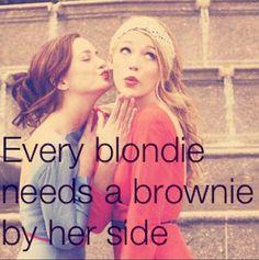 Blond #brunette