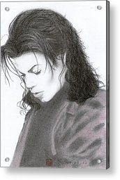 Michael Jackson ~ Stranger In Moscow Acrylic Print by Eliza Lo