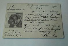 1911 Vintage Antique Postcard from Tia Juana Mexico-BULLDOG-10O,000 MILE RUN
