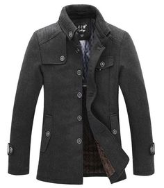 Winter Men's Fashion: The Wilson Mandarin Short Trench Grey
