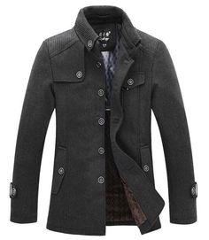 Winter Men's Fashion: The Wilson Mandarin Short Trench Grey