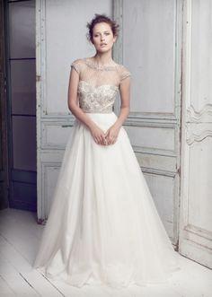 Collette Dinnigan  Lattice Pearls Beaded Bodice Gown