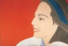 Alex Katz, The Red Smile (1963) Oil on Linen, 200x 291 cm / 79 x 115 in L'art Du Portrait, Portraits, Modern Art, Contemporary Art, Alex Katz, Night At The Museum, Whitney Museum, David Hockney, Arte Pop