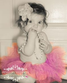 Sweet Baby Girl in tutu Photograph