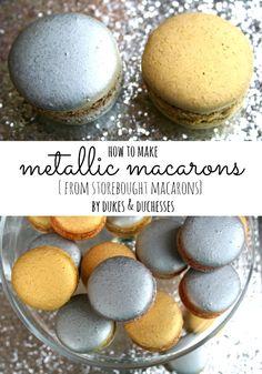 how to make metallic macarons