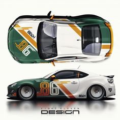 eighteleven design - TUNING - The most creative designs Racing Car Design, Bike Design, Auto Design, Bmw Isetta, Car Stickers, Car Decals, Vw Cars, Race Cars, Bmw 327
