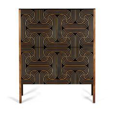 4 DOOR LOOP CABINET - Gold  £1725               www.coucoumanou.com