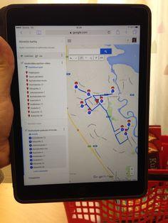 Reitin suunnittelu Google Maps:lla